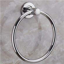 Towel Bar New Design / Cool Contemporary Stainless Steel / Iron 1pc towel ring Wall Mounted Silvery