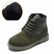 Boys' Shoes Suede Winter Combat Boots Boots Lace-up for Kids / Teenager Black / Green / Khaki / Booties / Ankle Boots Green,US9.5 / EU26 / UK8.5 Toddle