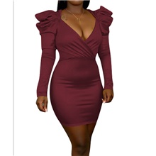 Women's Sheath Dress - Solid Colored Black Wine Yellow S M L XL Wine,S