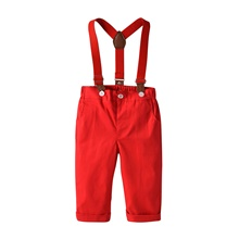 Baby Boys' Basic / Street chic Solid Colored Overall & Jumpsuit Red Red,9-12 Months(80cm)