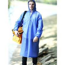 Protective Clothing Anti Dust And Droplet Men's Daily Long Trench Coat, Solid Colored Hooded Long Sleeve Others Blue Blue,US42 / UK42 / EU50