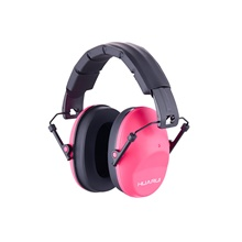 Safety Ear Muffs - Professional Ear Defenders for Shooting Adjustable Headband Ear Protection/Shooting Hearing Protector Earmuffs Fits Adults to Kids Pink