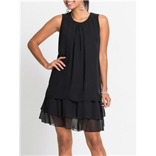 Women's Black Dress Party Work Casual Spring & Summer Party Causal Daily Shift Solid Color M L