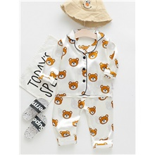 Baby Boys' Print Sleepwear Yellow White,9-12 Months(80cm)