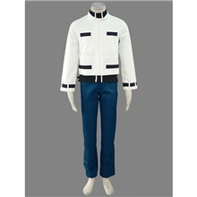 Inspired by The King Of Fighters Kyo Kusanagi Video Game Cosplay Costumes Cosplay Suits Patchwork Coat Pants Gloves Costumes / T-shirt White,S