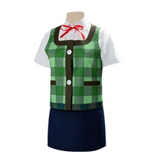 Inspired by Animal Crossing Cosplay Video Game Cosplay Costumes Cosplay Suits Patchwork Vest Shirt Skirt Costumes / Headwear Green,XS