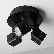 Modern Ceiling Light 3 GU10 LED Spot Lights Bulbs included Black Painting for Living Bedroom Warm White,110-120V