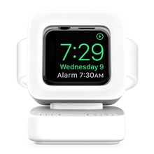 Apple Watch All-In-1 / New Design / Adorable Silicone Bed / Desk Apple Watch Stand,White