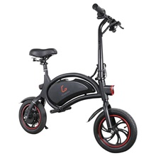 KUGOO Kirin B1 Folding Moped Electric Bike 250W Brushless Motor Max Speed 25km/h 6AH Lithium Battery Disc Brake 12 Inch Pneumatic Tires E-Bike APP Speed Setting- Black