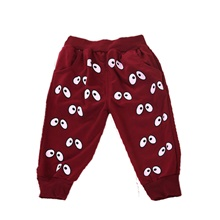 Baby Girls' Active Basic Print Print Pants Wine Wine,9-12 Months(80cm)