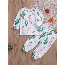 Baby Girls' Casual Chinoiserie White Solid Colored Long Sleeve Regular Regular Clothing Set White White,9-12 Months(80cm)