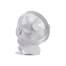 Mini USB Fan Electric Portable Air Cooling Fans 2 Speed Adjustable Clip Desk Home Office Fan Handheld Small Pocket Fan White