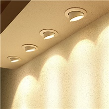 LED Elephant Trunk Lamp Embedded Household Ceiling Lamp Living Room Downlight Background Wall Aisle COB Spotlight Warm White,10W
