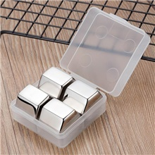New Whisky Stones Ice Cubes Set Reusable Food Grade 304 Stainless Steel Wine Cooling Cube Chilling Rock Party Bar Tool 4