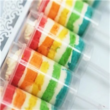 10 Pieces of Cake Ice Cream Push Band Tool Transparent