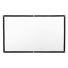84 inch Portable Foldable Movie Projector Screen 16 9 Projection HD Home Theater Screen for Party Meeting Public Display White