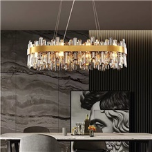90 cm Crystal Chandelier Island Light Stainless Steel Electroplated Modern 110-120V 220-240V Warm White White Neutral Light,110-120V,16 Heads
