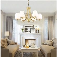 65 cm Gold Chandelier Pendant Light Metal Painted Finishes Nature Inspired Nordic Style 220-240V Bulb Not Included,220-240V,6 Heads,Bulb Not Included,Gold
