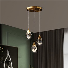 3 Heads / 5 Heads Premium Crystal Pendant Light Copper Brass Modern Fashion 110-120V 220-240V Warm White,110-120V,3 Heads