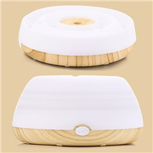 New Arrival 300Ml High Quality Mini Room Ultrasonic Atomizer Air Humidifier Diffuser Purifier TYPE C,Light Wood