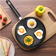 Four-hole Omelet Pan For Eggs Ham PanCake Maker Frying Pans Creative Non-stick No Oil-smoke Breakfast Grill Pan Cooking Pot 1