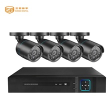4CH AHD DVR Security System 1080P AHD Waterproof Outdoor CCTV Camera 1080P 2.0MP Night Vision AHD Surveillance Kit EU Adapter,NTSC