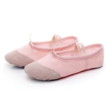 girls ballet shoes women dance shoes canvas ballet slippers yoga shoes (toddler/little kid/big kid/women/boy) white Gouache [Leather head style],35