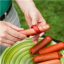 Cokytoop 2pcs/set BBQ Hot Dog Sausage Cutter Spiral Creative Barbecue Sausage Slicer Accessories Food Grade PP BBQ Tool 2 PCS
