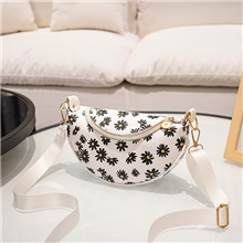Women's Bags PU Leather Fanny Pack Pattern / Print for Holiday Outdoor White Black Purple Red White