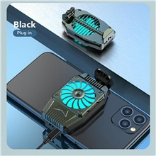 Suitable for iPhone Xiaomi Huawei's mobile phone radiator cooling fan USB powered mobile phone cooling fan box Black