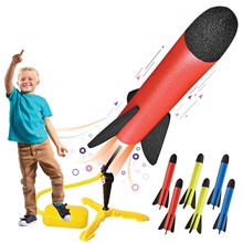 Activity Toy Outdoor Rocket Launcher Plastic Foam Parent-Child Interaction Kid's Party Favors  for Kid's Gifts Random Color