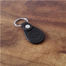 Personalized Customized Men's Keychain Leather Handmade Black Brown Coffee Black