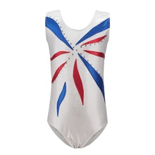 Rhythmic Gymnastics Leotards Gymnastics Suits Girls' Kids Dancewear Stretchy Handmade Sleeveless Training Rhythmic Gymnastics Artistic Gymnastics White White,3-4 Years(110cm)