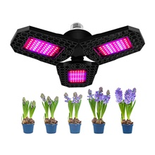 1pcs 144 LEDs Three Leaf For Hydroponics Backyard Greenhouse Nursery Foldable Waterproof Houseplants Plant Grow Light Garden Seeding 85-265V,E26 / E27