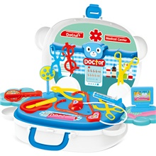 34x27x9.5cm role playing with kids pretend doctor medical game role playing toy suitcase style parents interactive toy set (as shown) Medical equipment suitcase