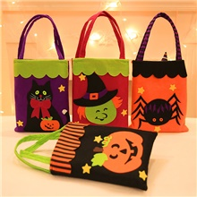 Halloween Party Toys Non-woven Bags Halloween Gift Bags Trick or Treat 7 pcs Cat Pumpkin Cartoon with Handles Non-woven Fabrics Kid's Adults Trick or Treat Halloween Party Favors Supplies Rainbow