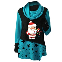 Women's Tunic Portrait Star Long Sleeve Print Round Neck Tops Loose Basic Basic Top Blue Red Green Blue,S