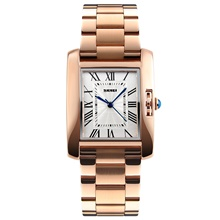 silver analog watch for women, ladies waterproof wrist dress quartz watches with stainless steel band, water resistant watch Golden