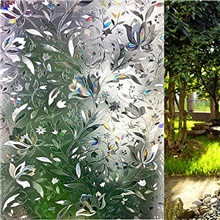 window film 3d no glue static decorative privacy window films for glass 23.6in. by 157.4in 3D orchid 45*100