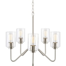 5-Light 54 cm Cluster Design Island Design Pendant Light Metal Glass Antique Brass Electroplated Artistic Modern 110-120V 220-240V 110-120V,5 Heads,Bulb Not Included,Brushed Nickel