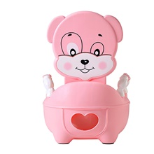 kids lovely dog potty chair for boys & girls toddler potty training toilet, non-slip with splash guard Pink cute dog toilet
