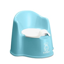 055268us potty chair, deep green/white Blue-Green