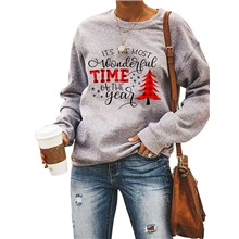 Women's Daily Pullover Sweatshirt Letter Monograms Basic Hoodies Sweatshirts  Cotton Red Gray Red,S
