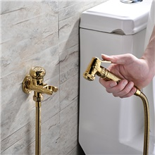 Bidet Faucet Handheld Bidet Sprayer Antique Golden Luxury Middle East Shattaf Set Other Countries,A