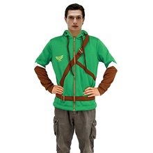 Inspired by The Legend of Zelda Cosplay Video Game Cosplay Costumes Cosplay Tops / Bottoms Cartoon Long Sleeve Others Costumes Green,S-Women