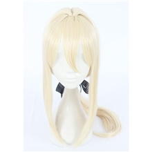 Violet Evergarden Violet Evergarden Cosplay Wigs Women's With Ponytail 24 inch Heat Resistant Fiber kinky Straight Blonde Teen Adults' Anime Wig Blonde,Adult,Average