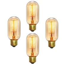 6pcs 4pcs 40W E26 E27 T45 Warm Yellow 1400-2800 k Retro Dimmable  Decorative Incandescent Vintage Edison Light Bulb 220-240 V Warm White,220-240V,E26 / E27,4
