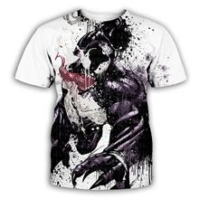 unisex 3d print creative animal short sleeve t-shirt casual graphic (venom spider, 2xl/3xl) XT150,S