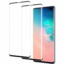 for samsung galaxy s10 plus sm-g975u glass screen protector - [2 pack] 3d anti-scratch 9h hardness tempered glass film screen protector for samsung galaxy s10 plus sm-g975u One Color,One-Size