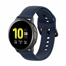 bands compatible with samsung galaxy watch active 2 40mm/ 44mm replacement silicone quick release stylish sport wrist band straps wristbands bracelet watch band(midnight blue) One Color,One-Size